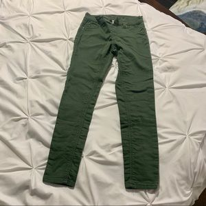 Justice Olive Green Skinny Pants Girl's 12